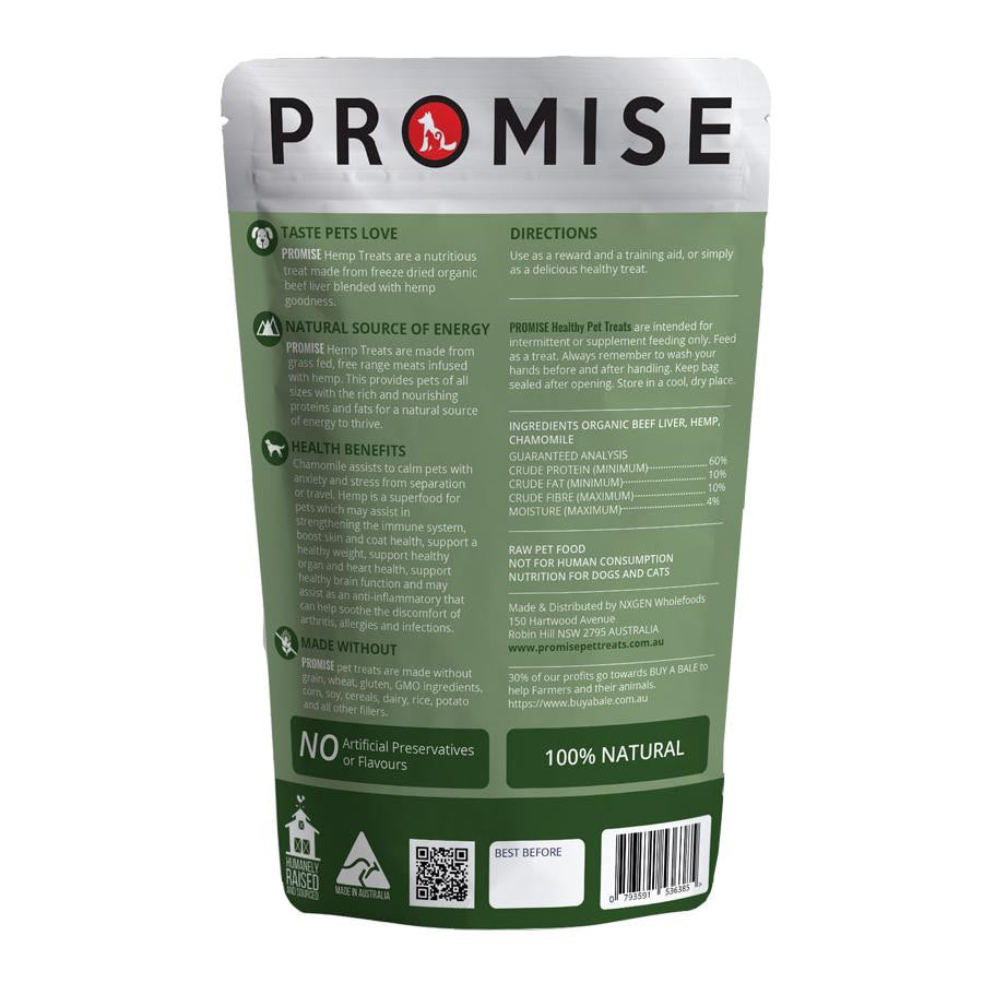 PROMISE ORGANIC BEEF LIVER HEMP SPRINKLES - TRANQUIL TREATS - Promise Pet Treats