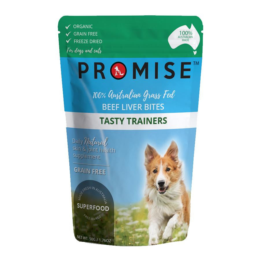 PROMISE ORGANIC BEEF LIVER BITES - Promise Pet Treats