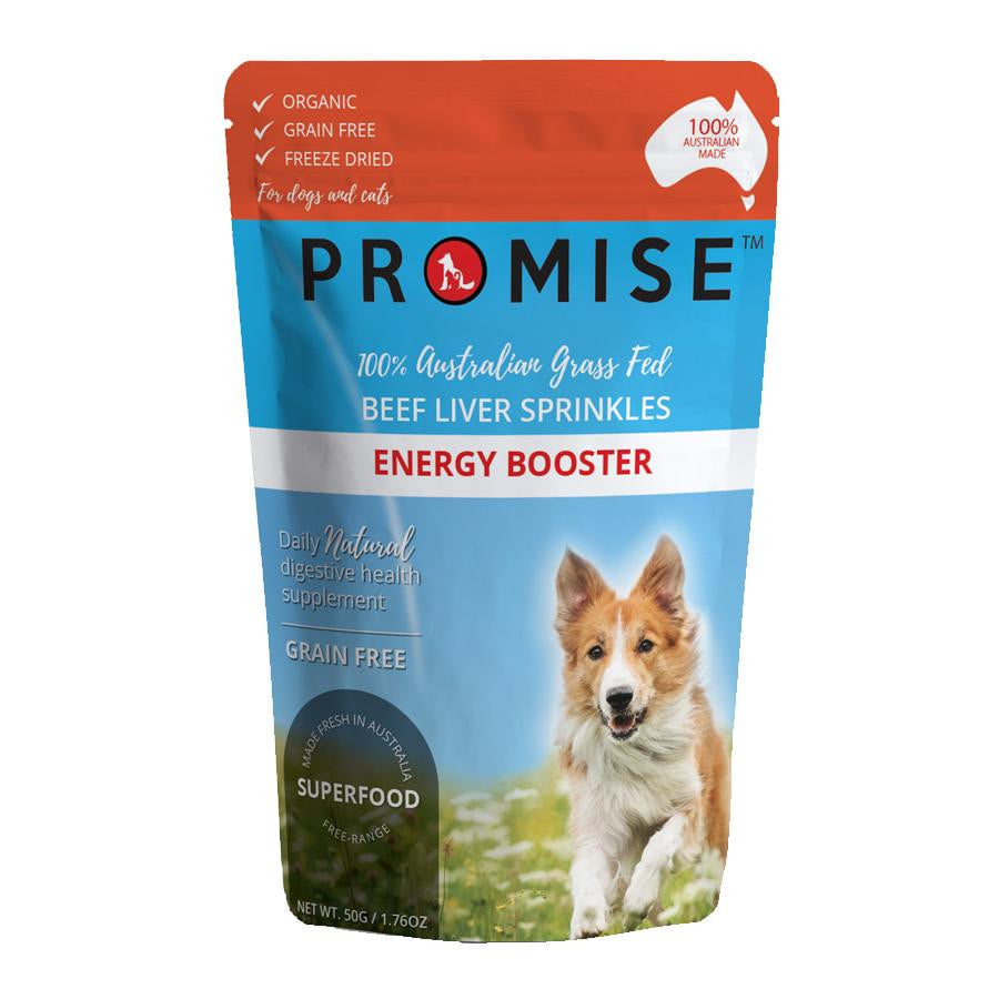 PROMISE ORGANIC BEEF LIVER SPRINKLES - Promise Pet Treats