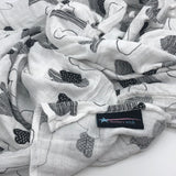 MamaWish cotton muslin soft swaddle blanket