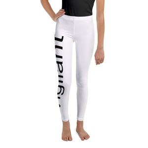 Girls White Vigilant Leggings