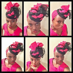 woman wearing african head wraps | 2 sydney stylists...loves!
