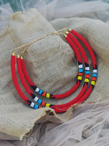 Zuri african maasai red beaded necklace | 2 Sydney Stylists Loves