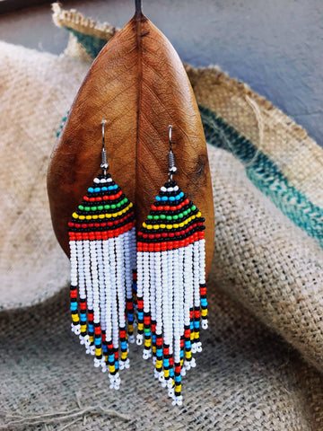 Subira beaded fringe Maasai earrings | 2 Sydney Stylists Loves