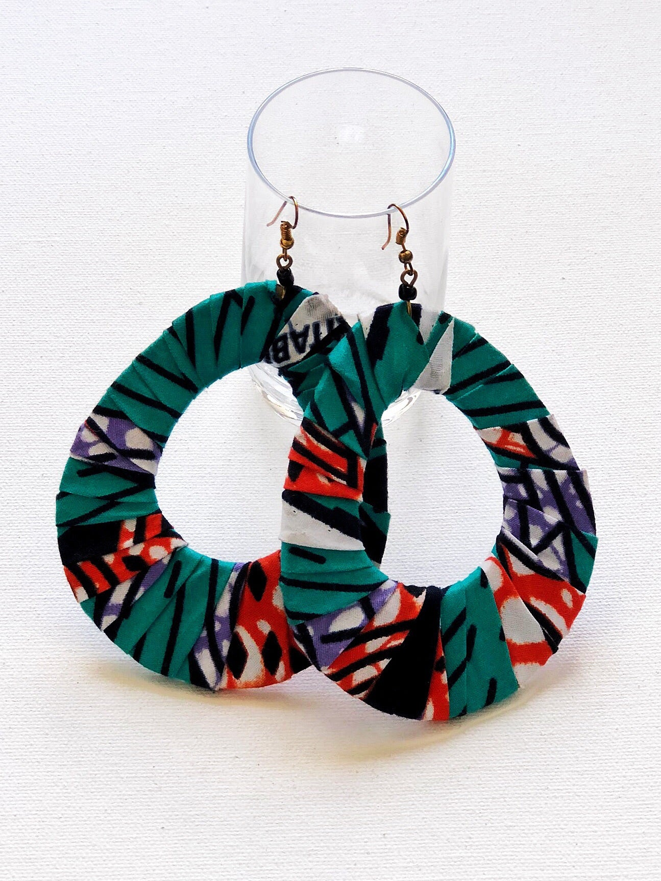 Kitenge Teardrop Earrings