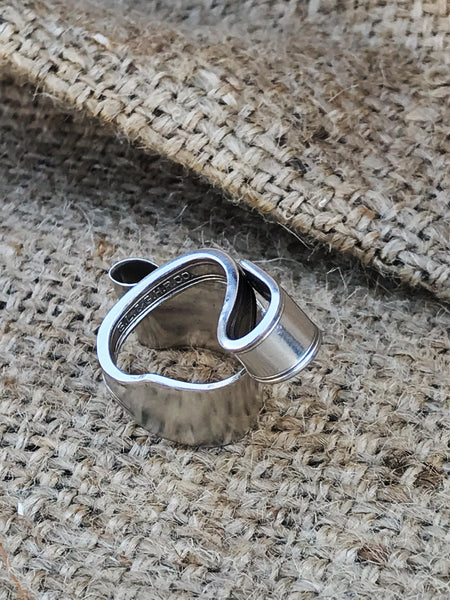 upcylced vintage spoon handle silverware ring | back view | 2 Sydney Stylists Loves