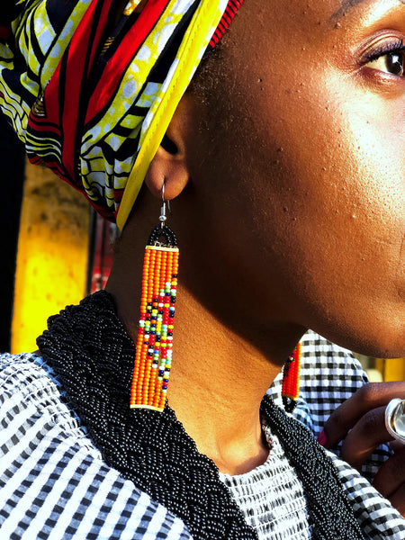 details wearing Nala Maasai beaded earrings | 2 Sydney Stylists Loves