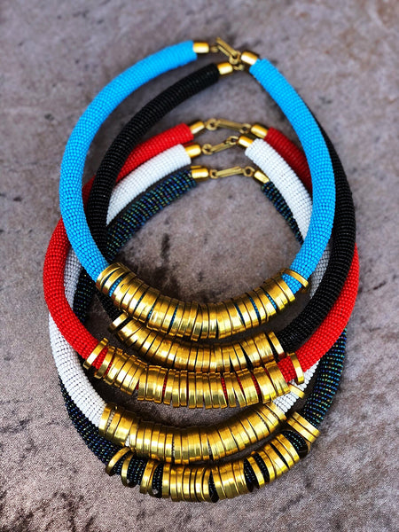 Mahari maasai brass beaded necklace | 2 Sydney Stylists loves