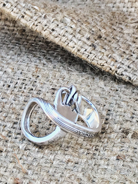 Upcycled vintage sterling silver fork silverware ring | back view | 2 Sydney Stylists Loves