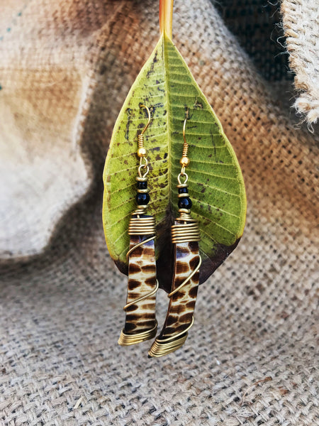 Zuberi bone and brass maasai earrings | 2 Sydney Stylists Loves