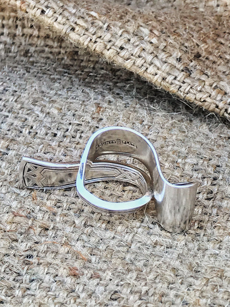 upcycled vintage spoon handle silverware ring | back view | 2 Sydney Stylists Loves