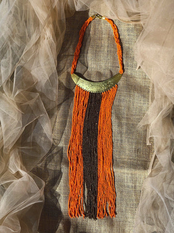 Maridadi african maasai brass fringe beaded necklace | 2 Sydney Stylists Loves