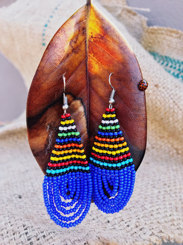 blue multi coloured maasai beaded earrings | 2 Sydney Stylists Loves