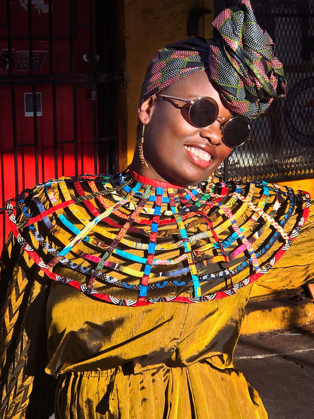 ankara necklace | African print necklace | head wrap | 2 Sydney Stylists loves