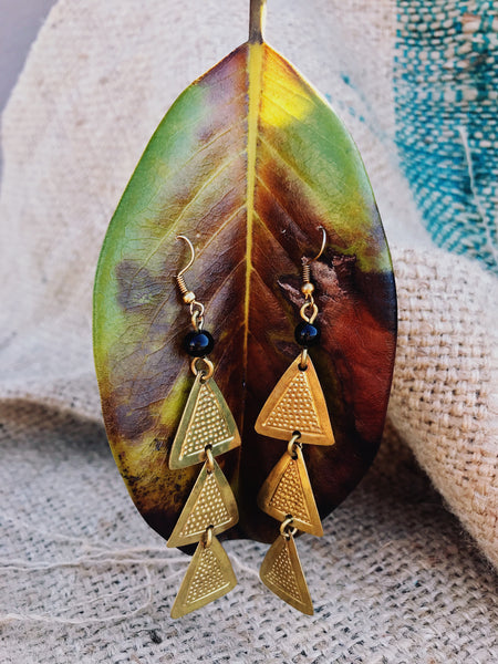 Tatu brass tiered Maasai earrings | 2 Sydney Stylists Loves