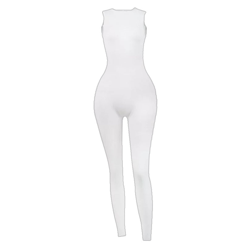 Bodycon white jumpsuit