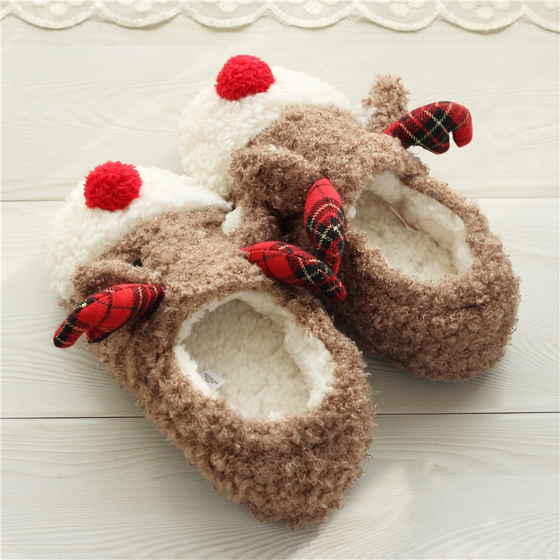 fa6fbed5df84 Indoor Plush Rudolph Holiday Slippers  Indoor Plush Rudolph Holiday Slippers  ...