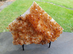 Citrine Cluster Large with Stand