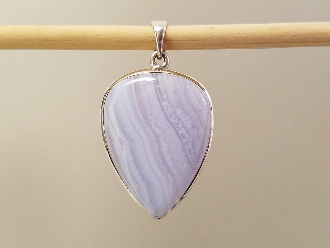 Blue Lace Agate Pendants