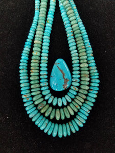 Turquoise beads, blue Chinese