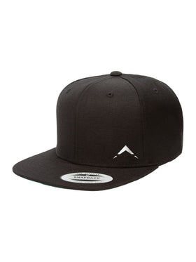 White on Black Logo Snapback