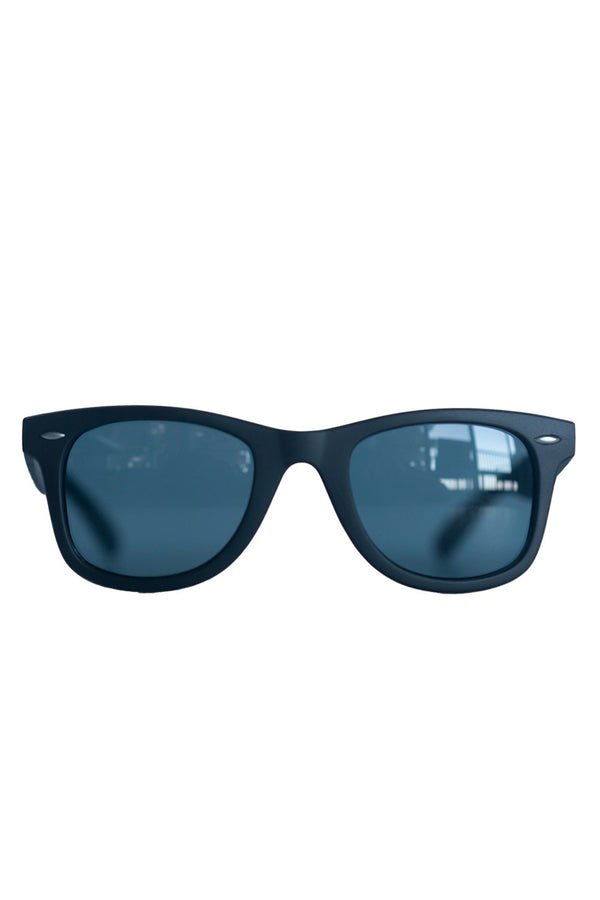 TICDA MATTE BLACK SUNGLASSES