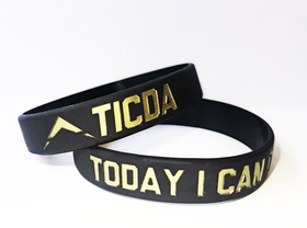 BLACK & METALLIC GOLD WRISTBAND (MEDIUM - 7 INCH)