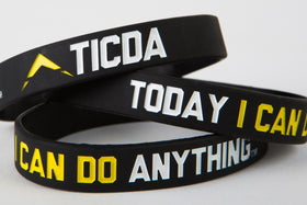 BLACK & YELLOW WRISTBAND (LARGE - 8 INCH)