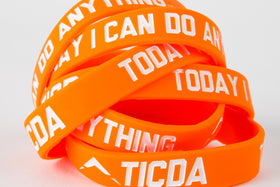 ORANGE WRISTBAND (MEDIUM - 7 INCH)