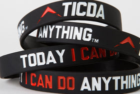 BLACK & RED WRISTBAND