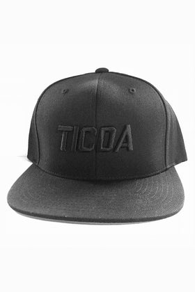 BLACK ON BLACK TICDA SNAPBACK