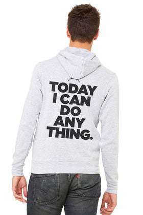 Stacked Slogan Fleece Hoodie