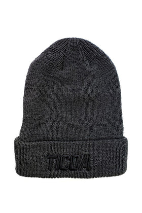 TICDA CHARCOAL GRAY HEATHER KNIT CUFFED BEANIE
