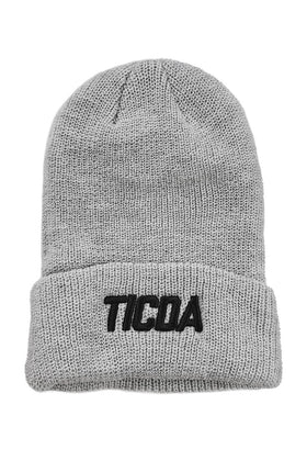 TICDA Gray Knit Cuffed Beanie