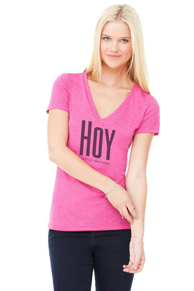 Spanish - Slogan V NECK TRIBLEND TEE