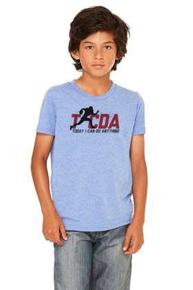 TICDA Football Triblend Tee