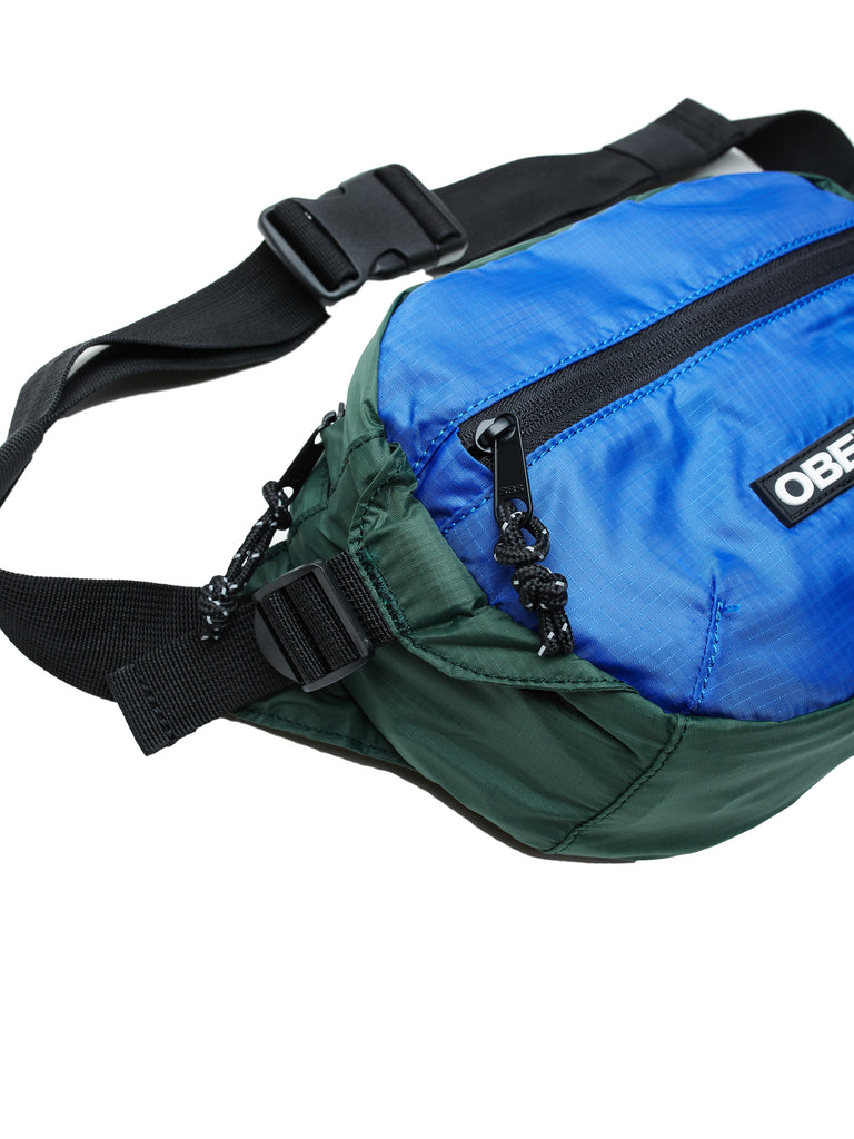 commuter waist bag blue multi | OBEY Clothing