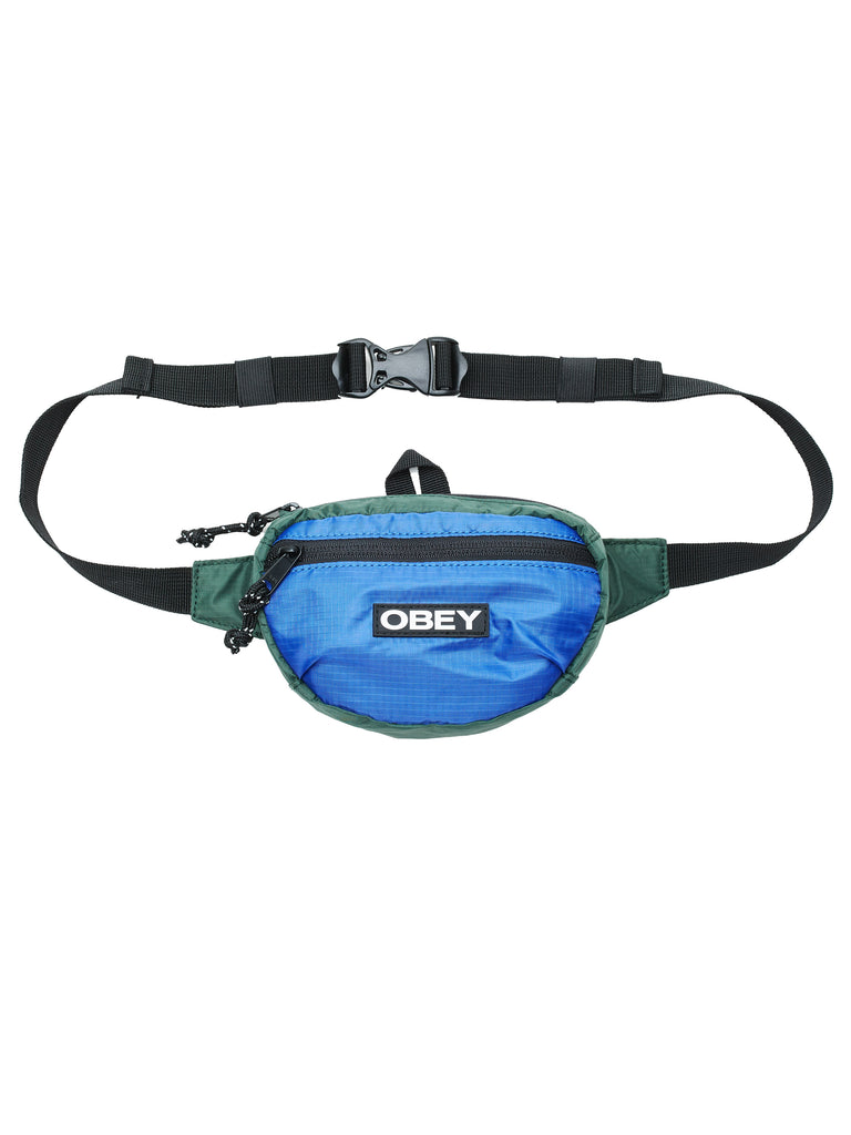 commuter waist pouch blue multi | OBEY Clothing