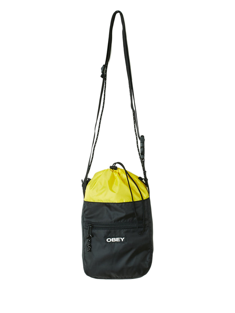 commuter cinch bag black multi | OBEY Clothing
