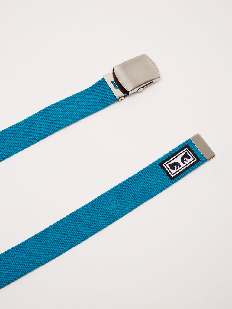 big buy web belt blue green | OBEY Clothing