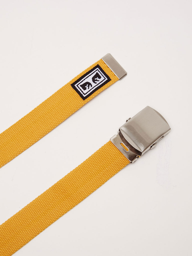 big buy web belt energy yellow | OBEY Clothing