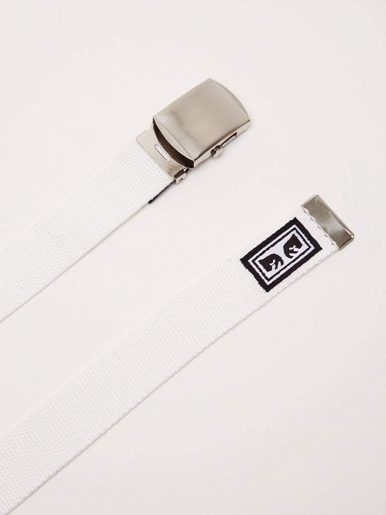 big buy web belt white | OBEY Clothing
