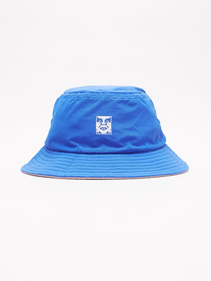 icon reversible bucket hat blue multi | OBEY Clothing