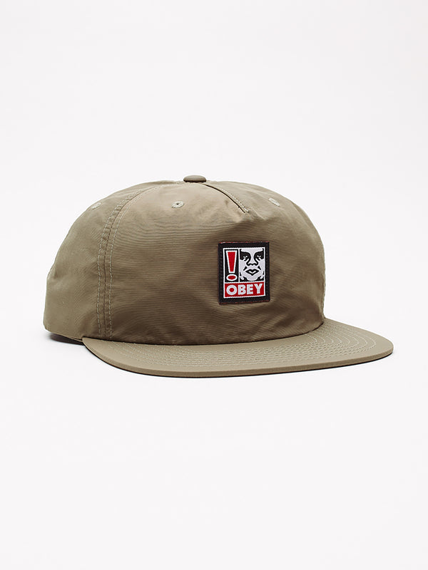 exclamation strapback khaki | OBEY Clothing