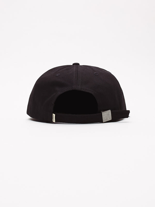 ideals organic 6 panel strapba black | OBEY Clothing