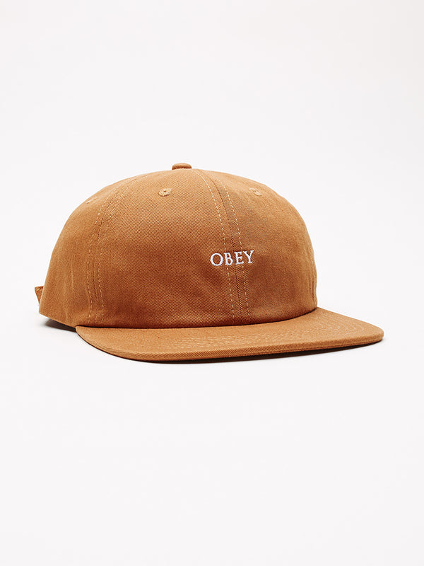 ideals organic 6 panel strapba khaki | OBEY Clothing