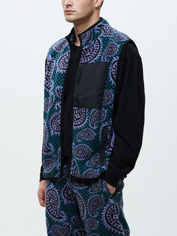 eisley mock vest paisley teal | OBEY Clothing