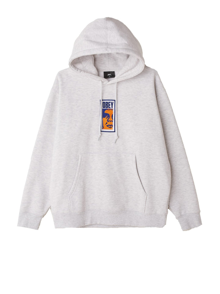obey slim icon hood ash grey | OBEY Clothing