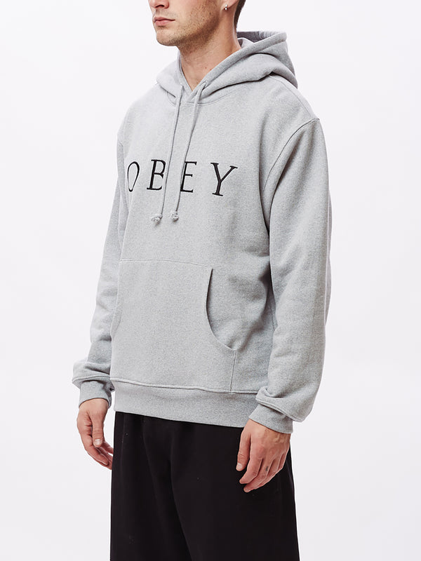 ideals sustainable logo hood ash grey | OBEY Clothing