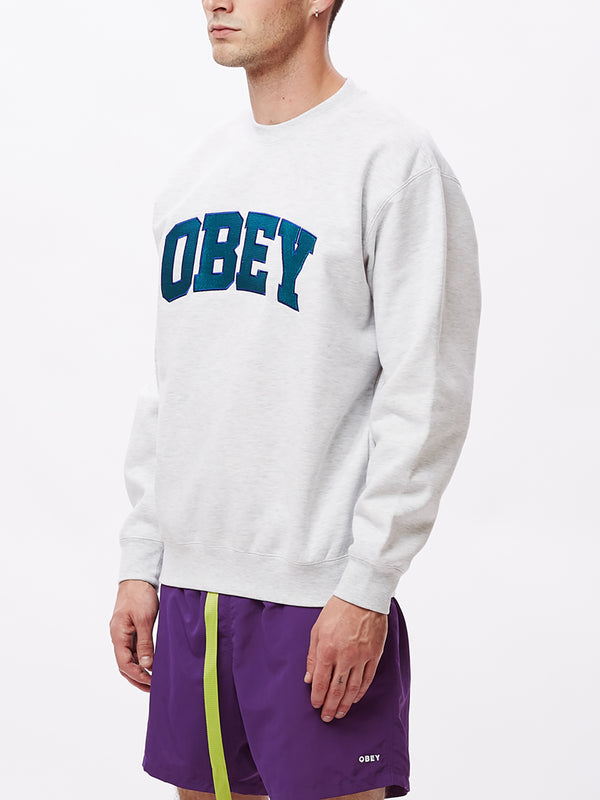 obey sports ii crew ash grey | OBEY Clothing
